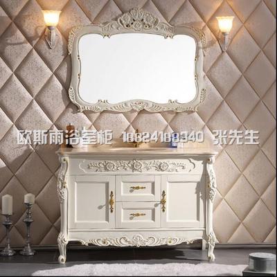 杭州新古典欧式浴室柜牡丹花定制大理石厂家直销 来看厂看样定制