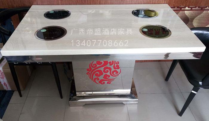南宁大理石火锅桌批发 大理石火锅桌图片 大理石火锅桌价格