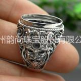 新款个性魔兽男戒 S925纯银首饰戒指批发 首饰厂家直销韵尚珠宝