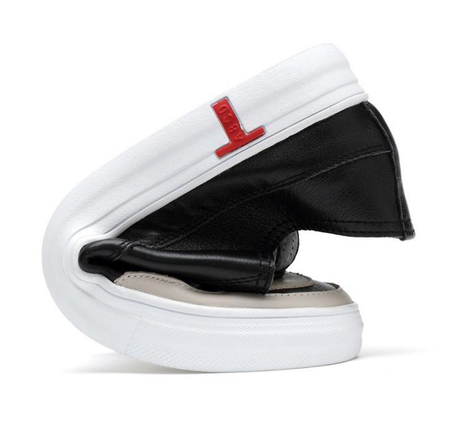 工厂直销批发 男士新款时尚韩版板鞋 头层真皮系带布洛克单鞋子