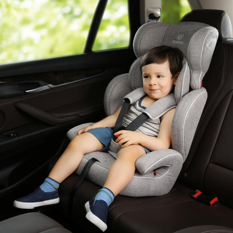 步达达安全座椅雅骑士E600灰色9个月-12岁 德国步达达BUDADA儿童安全座椅