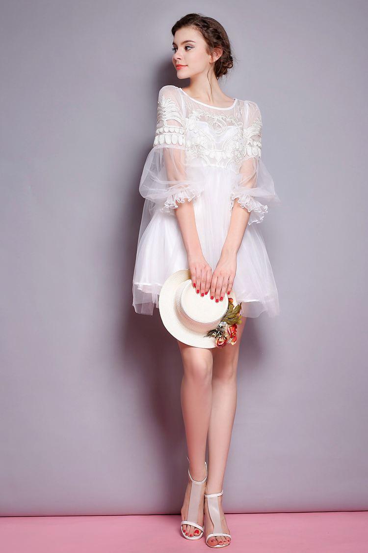 2017年韩版先手大方时尚女蕾丝裙子