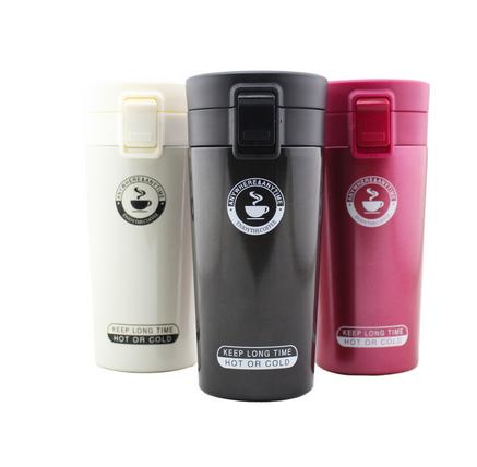新款304真空不锈钢汽车载保温杯日本咖啡杯时尚厂家定制广告礼品