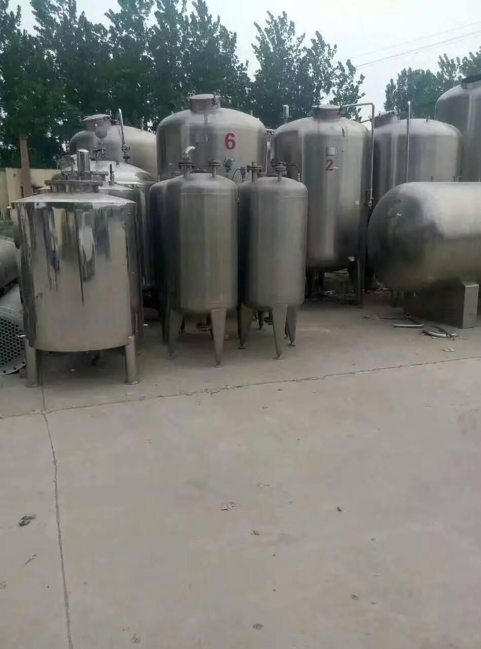 山东济宁出售50立方不锈钢储罐     梁山出售闲置50立方不锈钢储罐