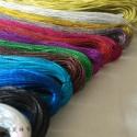 pvc金银线 彩色服装吊牌吊粒绳图片
