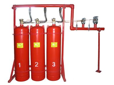 QQMQ4.2/70N七氟丙烷有管网装置液相储存,钢瓶使用量少、博物馆及票据适用