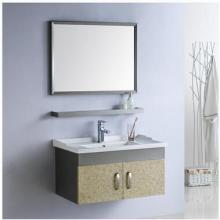 不锈钢支架盆 太空铝浴室柜 一体陶瓷盆 2015新款批发