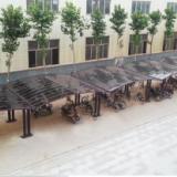 铝合金自行车棚定制 户外铝合金自行车棚 膜结构自行车棚