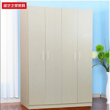 简约现代大衣柜 木质板式衣柜组合2门3门4门衣橱 整体衣柜定制