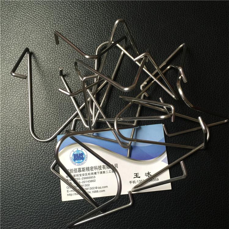 不锈钢线折弯 钢丝折弯 五金挂钩件折弯加工