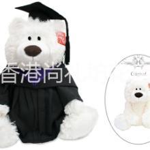香港特色Barnes & Coleman经典白色泰迪熊毕业公仔高校毕业礼物