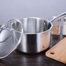 爱进厨不锈钢奶锅 单柄复底单柄复底奶锅加厚厨具可加LOGO ETERNUMO304不锈钢奶锅