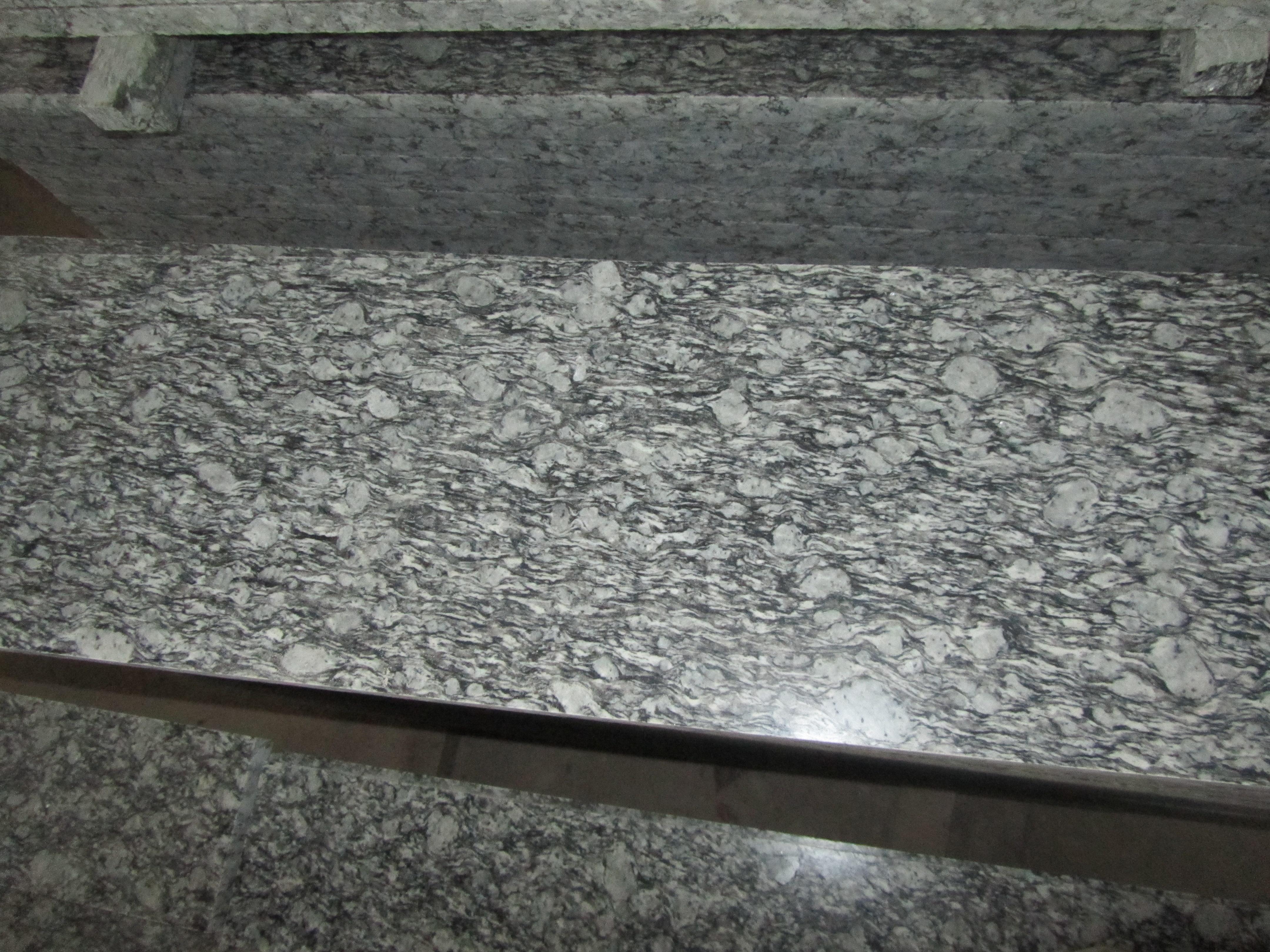 花岗岩 石材石料 荒料板材 浪花白 浪花白条板