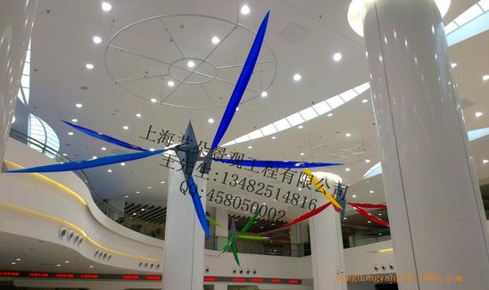 开业美陈布置 直接布置 中庭吊挂商场布置 商业空间设计