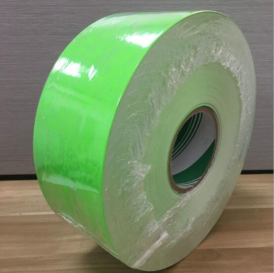 调机双铜纸 荧光绿纸荧光黄不干胶标签纸不干胶材料荧光绿纸广州