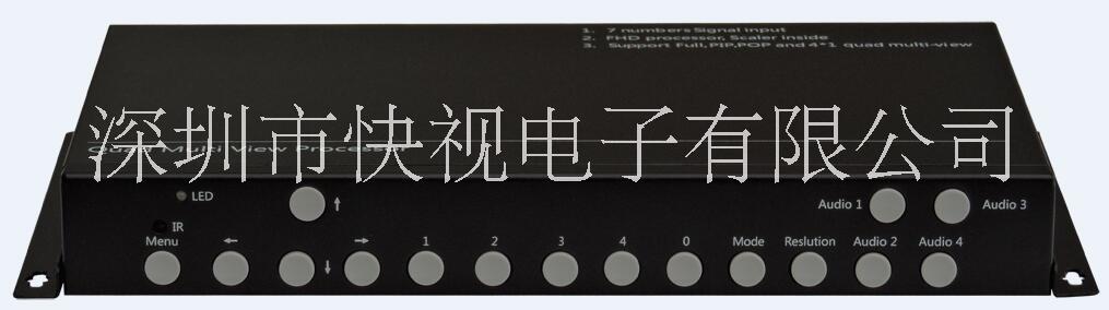 快视电子KS-CS71 画面分割器/4画面分割器/DP画面分割器/HDMI画面分割器/高清4画面分割器,支持音频切换