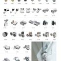 简易淋浴房扶手配件图片