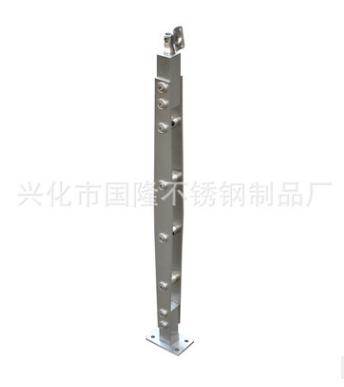 生产厂家 不锈钢栏杆楼梯立柱 直线式双夹立柱 商场家用安全爬梯