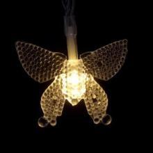 批发led彩灯闪灯串灯 珠光蝴蝶造型灯串 宿舍婚礼圣诞装饰灯