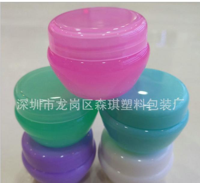 厂家供应 10克PP蘑菇形膏霜瓶 面霜瓶 药膏盒 化妆品瓶 塑料包材