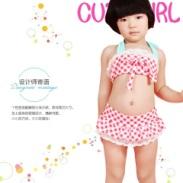 新款儿童泳衣女童分体泳衣系带系列图片