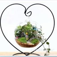 简约花瓶创意悬挂式微景观玻璃瓶 现代简约风格家居摆件微景观生态瓶