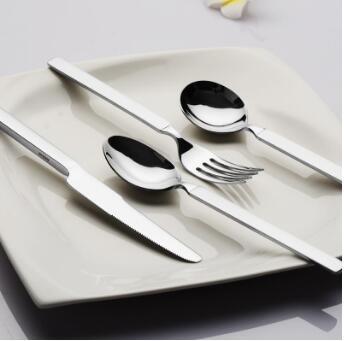 牛排刀叉勺 304不锈钢西餐具套装韩式刀叉三件套 可定制LOGO 304不锈钢大漏勺