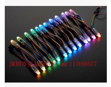 UCS1903全彩外露灯串 LED发光字炫彩屏像素灯铁皮冲孔字广告光源