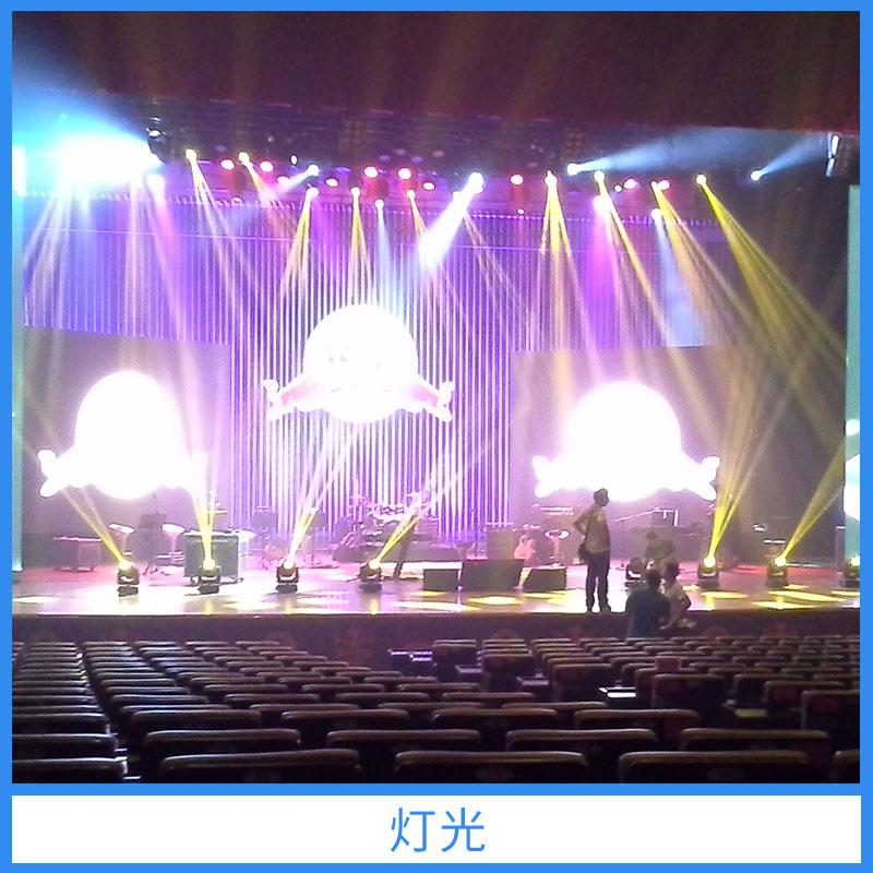 露天演唱会舞台灯图片