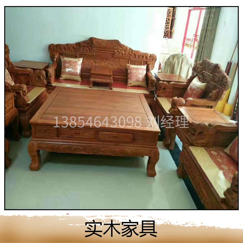 东营古月木雕红木家具 实木家具图片大全 实木家具图片