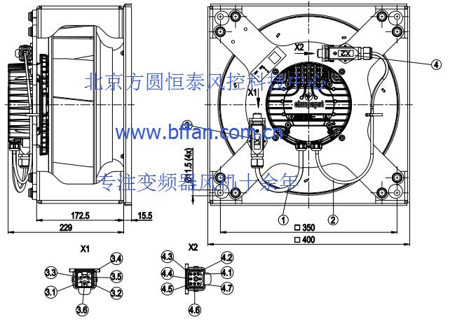 优势供应ebmpapst高 铁用K3G310-AY90-N1离心散热风机