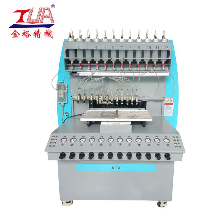 厂家直供全自动硅胶点胶机 全自动12色点胶机 商标钥匙扣点胶机
