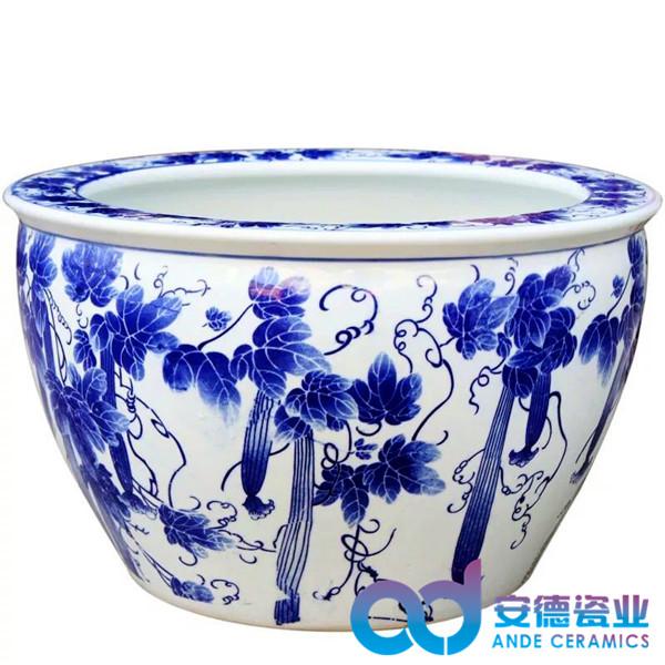 礼品陶瓷大缸,青花瓷陶瓷大缸,粉彩陶瓷大缸
