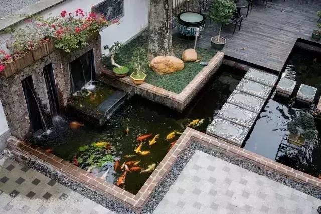 观宇园艺假山鱼池设计制作鱼池水处理循环系统建造