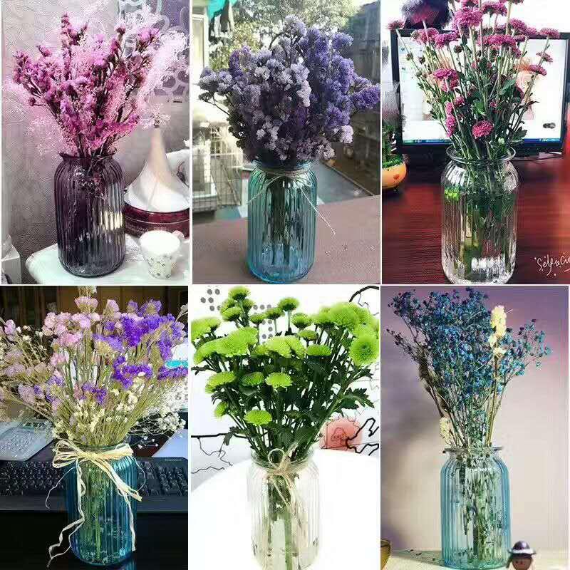 江苏大中小竖条花瓶价格高白料玻璃瓶