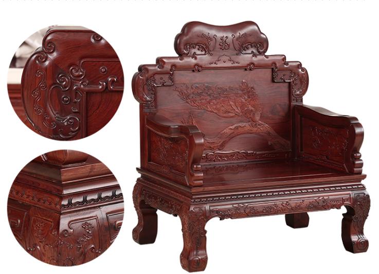 东阳红木中式沙发客厅组合红酸枝仿 红木红酸枝家具沙发组合图片大全