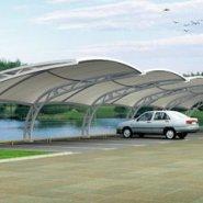 膜结构汽车停车棚 定制景观棚 张图片