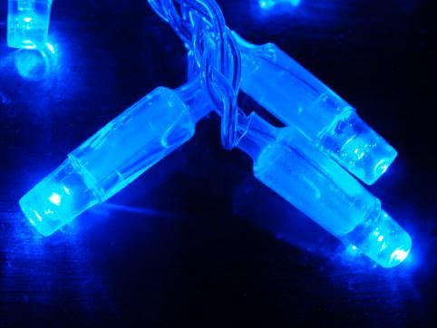 厂家直销LED灯串 蓝光灯串批发供应商 星星泡壳防水灯串 168灯饰厂多少钱