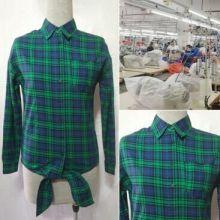 衬衫贴牌来图加工 衬衫贴牌来图加工定制 格子衬衫小批量来图定制  英伦修身长袖衬衣快速生产