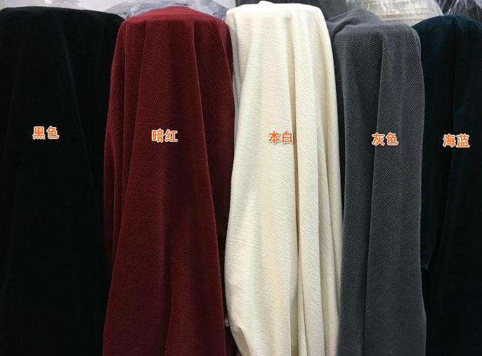 灯芯条面料粗条绒全棉砂洗弹力面料厚泡泡粗条绒秋冬裤装套装