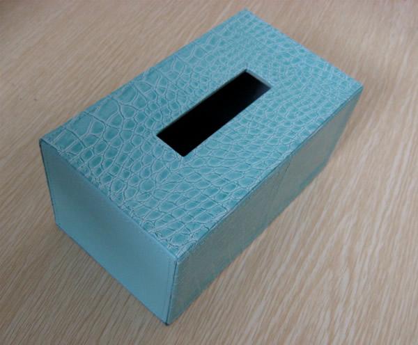 高档PU纸巾盒 餐巾抽纸皮盒 收纳盒厂家 PU纸巾盒批发