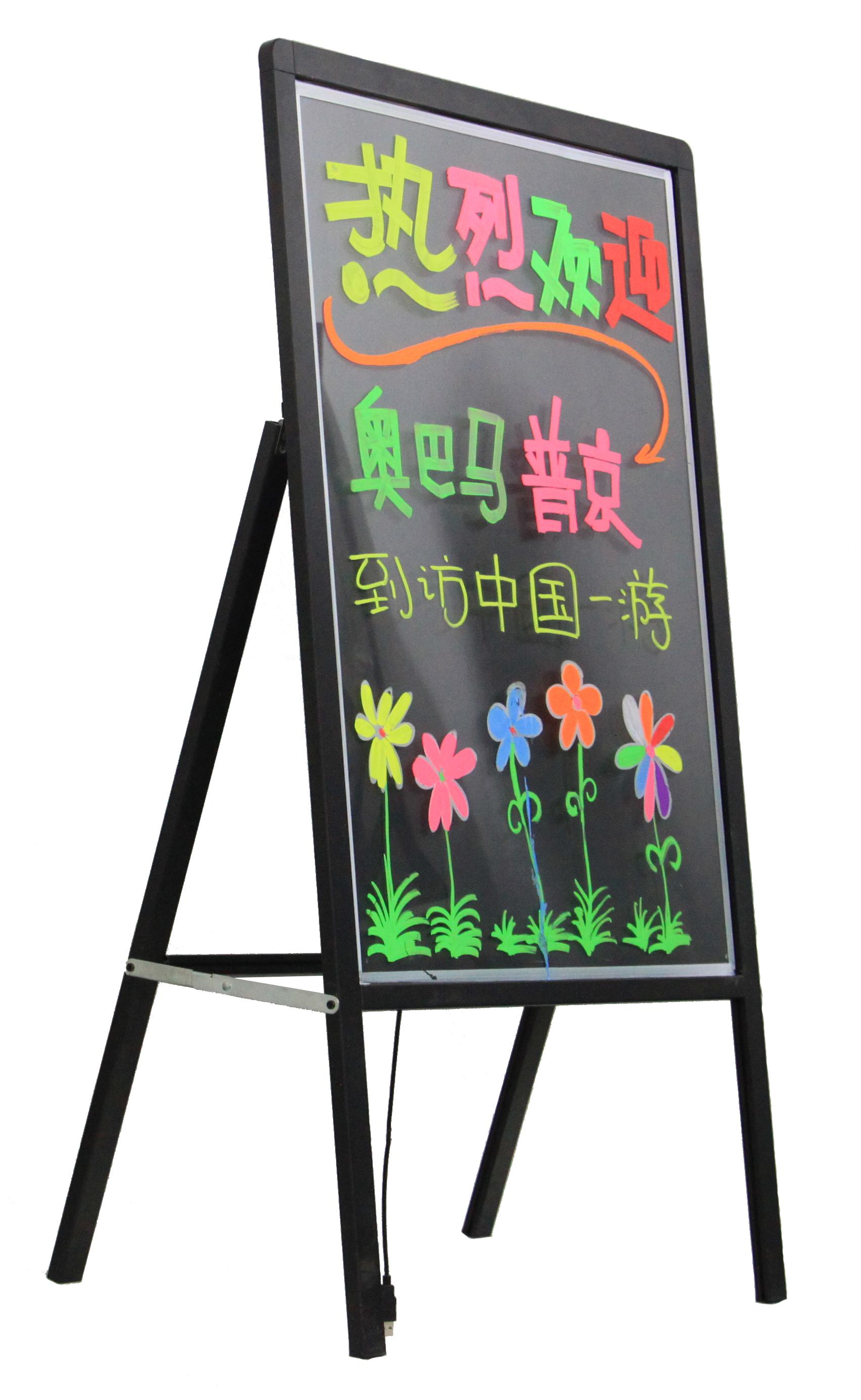 电子荧光板 LED荧光板 银光夜光广告写字板 发光板手写板 展示闪烁板