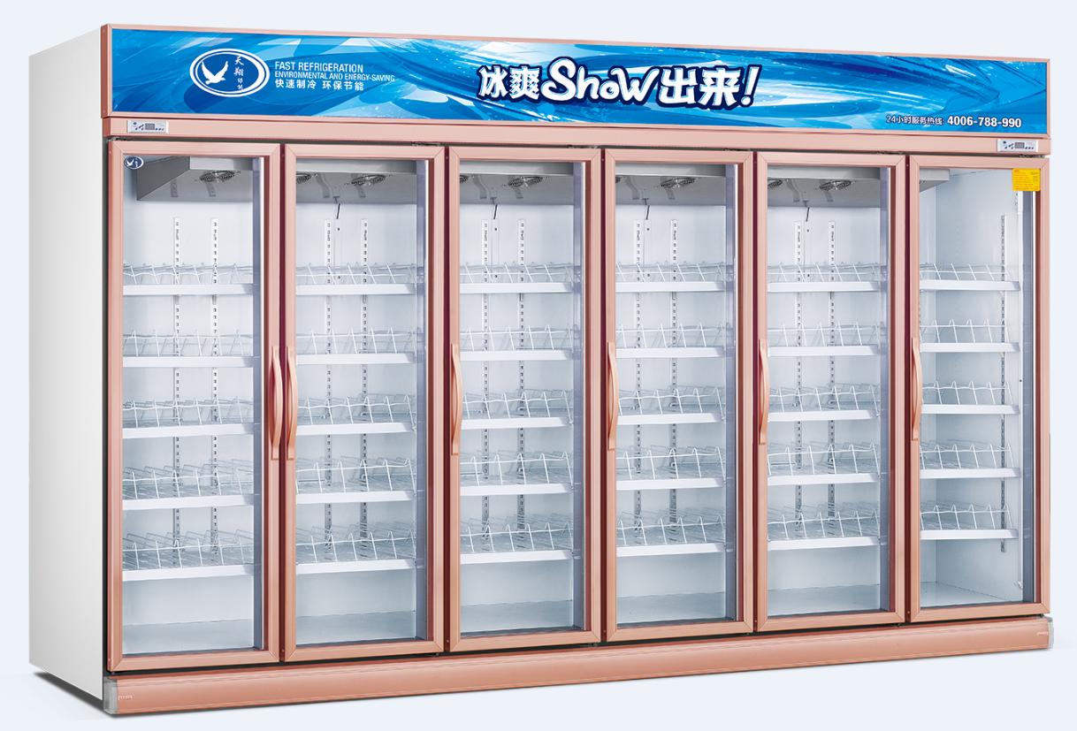 广州便利店五门冷藏柜广家直销 供应五门和多门冷藏柜 带灯箱