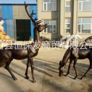 铜雕鹿图片