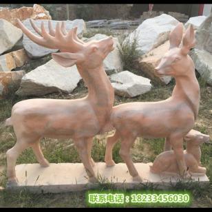 石雕小鹿母子鹿图片