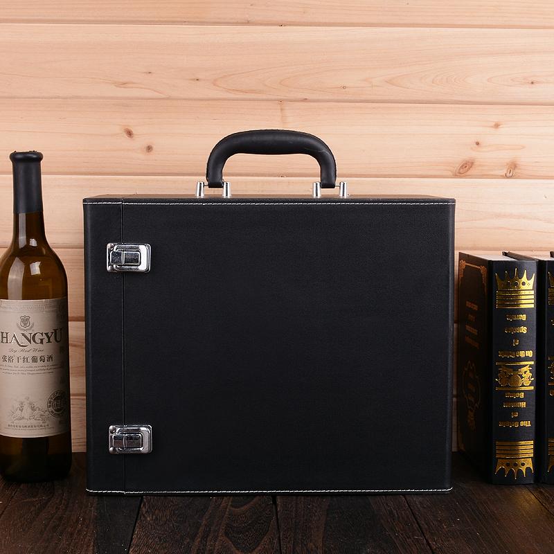 定制款六支装红酒包装皮盒 六支装红酒包装礼盒 厂家直销定制款六支装红酒包装皮盒六支装红酒包装礼盒 红酒包装