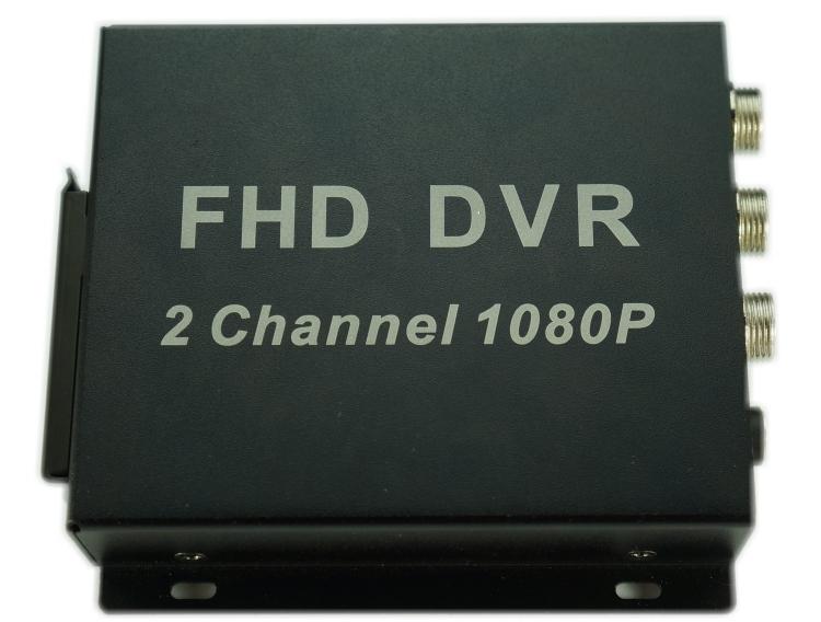 两路1080P录像机AHD2路AHD车载DVR高清双路行车记录仪SD卡记录器