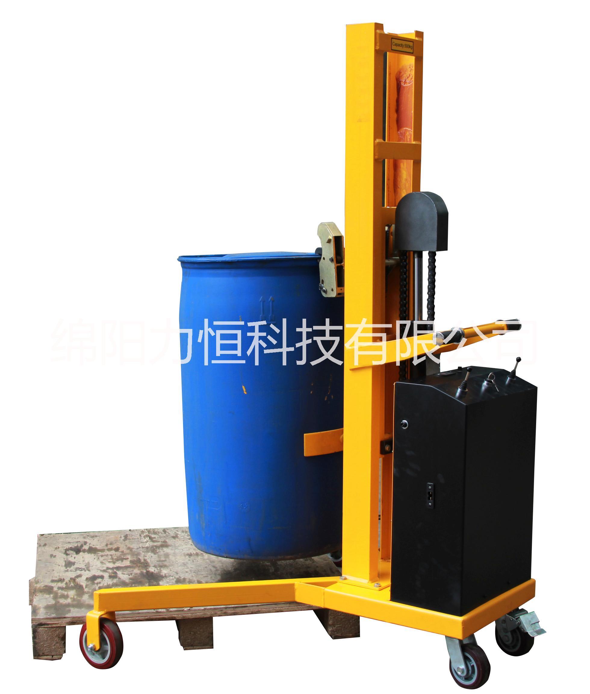 半电动油桶车直角支腿半电动堆高车