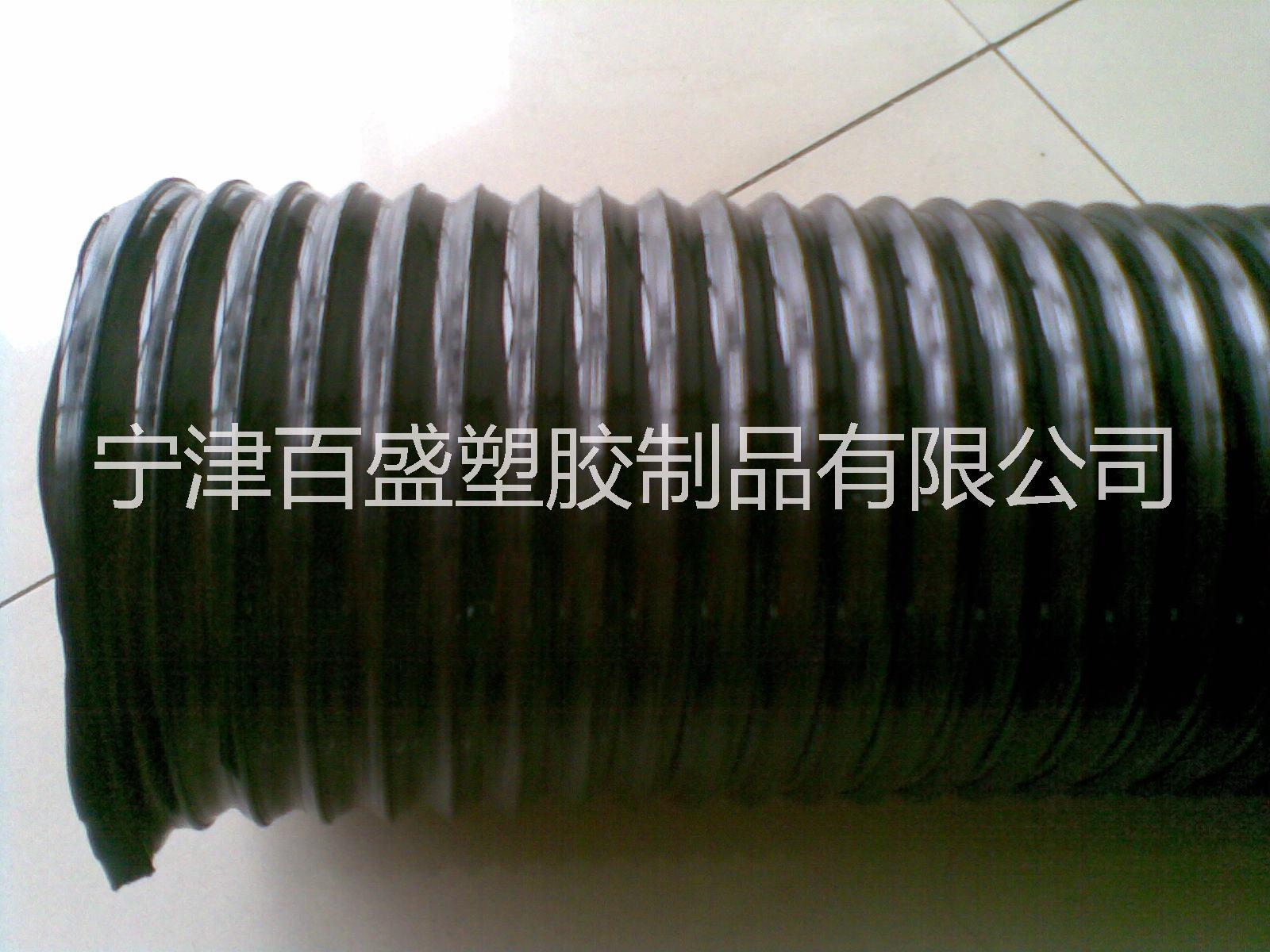 百盛厂家供应码垛机器人专用PU伸缩钢丝管波纹管18910086206
