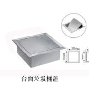 304不锈钢 嵌入方形台面垃圾桶图片